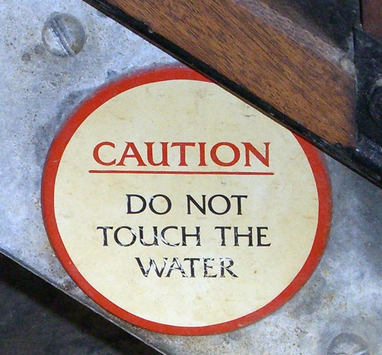 Do not touch the water